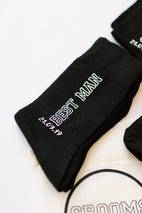 Best man gift personalized socks