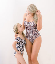 Load image into Gallery viewer, Leopard print matching mom and daughter baby swimsuits