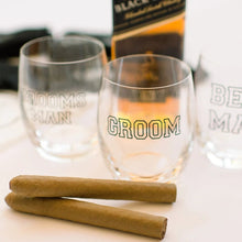 Load image into Gallery viewer, Personalized whiskey glasses Groom Groomsman Best Man Wedding gifts for Men Fathers Day