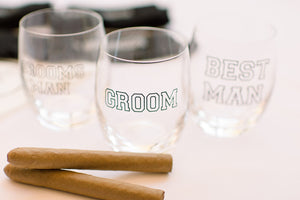 Groom Groomsmen Father of the Bride Groom gift personalised socks whiskey glass