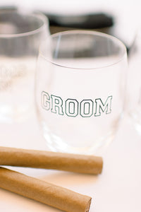Groom gift whiskey glass