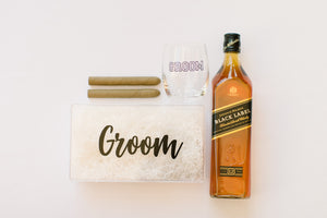 Groom gift box clear acrylic