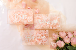 Clear acrylic perspex gift boxes