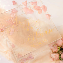 Load image into Gallery viewer, Wedding envelope card wishing well acrylic box