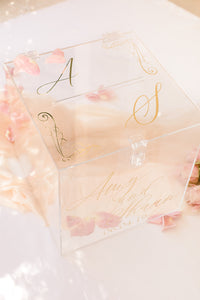Wedding envelope card wishing well acrylic box