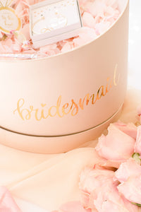 Hat gift box bridesmaid proposal box