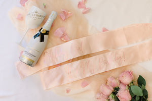 Rose gold bridal custom sash