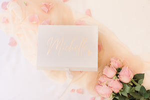 Ribbon gift box flip top Bridesmaid proposal box