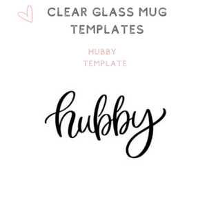 Custom Clear Glass Mugs Tea Cups Hubby