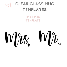 Load image into Gallery viewer, Custom Clear Glass Mugs Tea Cups Mr Mrs