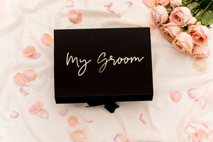 Groom gift box wedding idea
