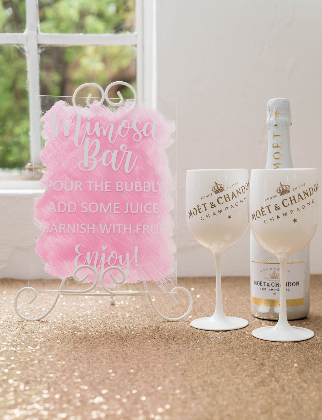 A4 acrylic signage custom wedding birthday bridal shower signs