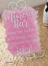 Load image into Gallery viewer, A4 acrylic signage custom wedding birthday bridal shower signs