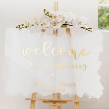 Load image into Gallery viewer, A1 A2 Acrylic Signage Wedding acrylic perspex signs