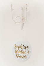 Load image into Gallery viewer, Circle acrylic sign wedding signage