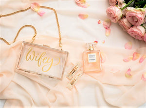 Personalized acrylic clutch bag purse