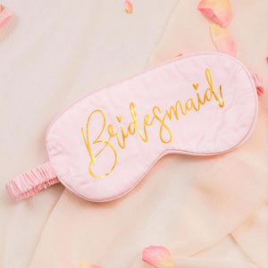 Bridesmaid sleep mask