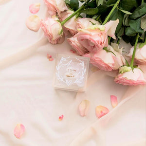 Custom acrylic ring boxes wedding ring box