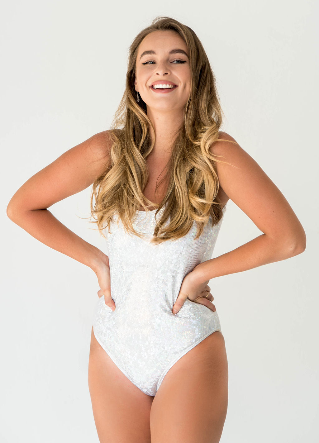 Sparkle Glitter Custom Bridal Swimwear Bodysuit