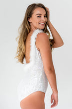 Load image into Gallery viewer, Sparkle Glitter Custom Bridal Swimwear Bodysuit
