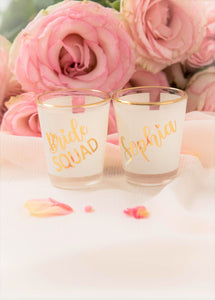 Custom Bridal Party Shot Glasses Shooter glass