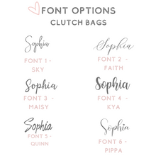 Load image into Gallery viewer, Font options acrylic clutch bags