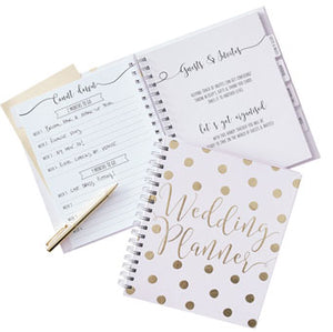 Gold wedding planner bridal gift