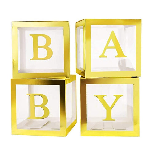 Gold Pop up balloon boxes Baby Shower