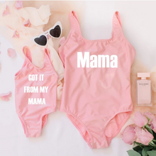 Load image into Gallery viewer, Mommy and Me matching baby swimsuits I got it from my Mama