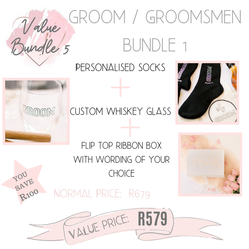 Groom Groomsmen bundle gift