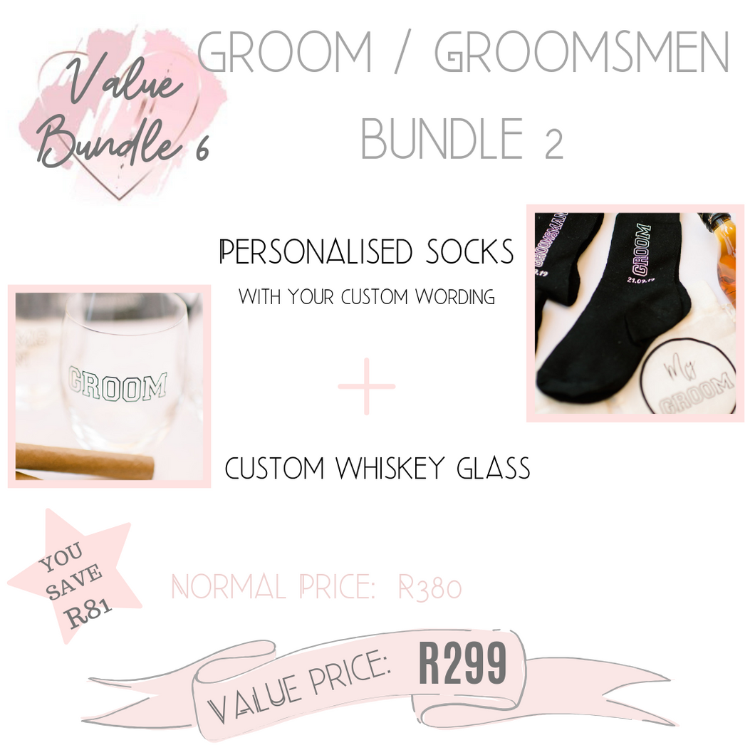 Groom Groomsmen Father of the Bride Groom gift bundle