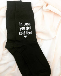 In case you get cold feet, personalized socks, Groom gift, socks for the Groom