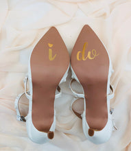 Load image into Gallery viewer, I do shoe sticker decals, wedding shoes