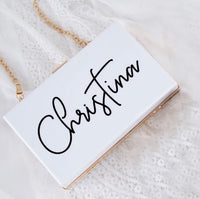 Personalised Acrylic Clutch Purse