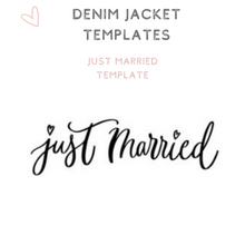 Load image into Gallery viewer, Just Married template custom text denim jacket bridal jacket