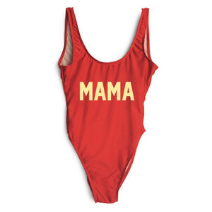 Mama swimsuit, customized swimsuit