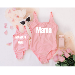 Mom and daughter matching kid swimsuits Mama's Mini