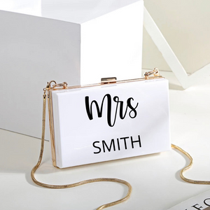 Personalized clutch bag purse