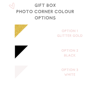 Photo gift box corner colour options