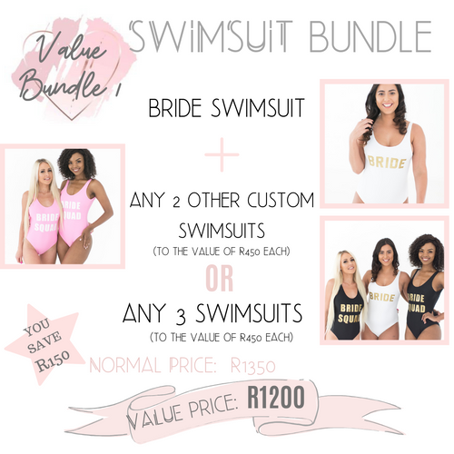 Swimsuit value bundle 3 swimsuits for discounted price