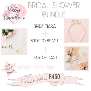 Bridal shower bundle value bundle