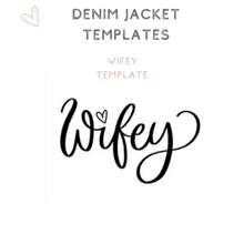 Load image into Gallery viewer, Wifey template custom text denim jacket bridal jacket