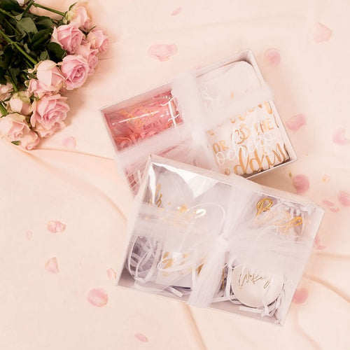 Tulle Bow personalized clear hamper gift box