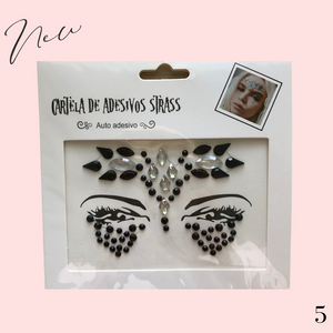 Glitter diamante face jewels temporary tattoo