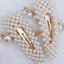 Load image into Gallery viewer, Pearl hair clip barrette hair accessory
