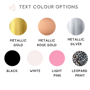 Face mask text colour options