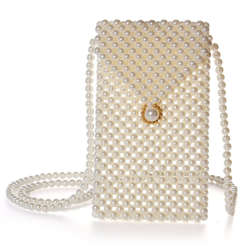Pearl cell phone sling bag