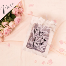 Load image into Gallery viewer, Marble personalized gift bags with clear window
