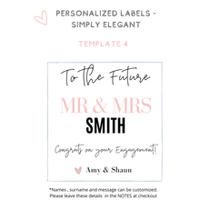 Load image into Gallery viewer, Personalized champagne wine label Will you be my Bridesmaid Proposal idea