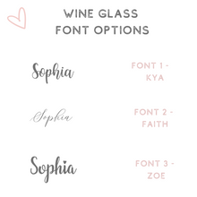Load image into Gallery viewer, wine glass font options
